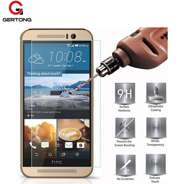 GerTong закаленное Стекло Экран Защитная пленка для HTC One M9 M8 M7 Mini X9 10 728 510 610 616 620 626 816 820 830 E8 E9 плюс фильм