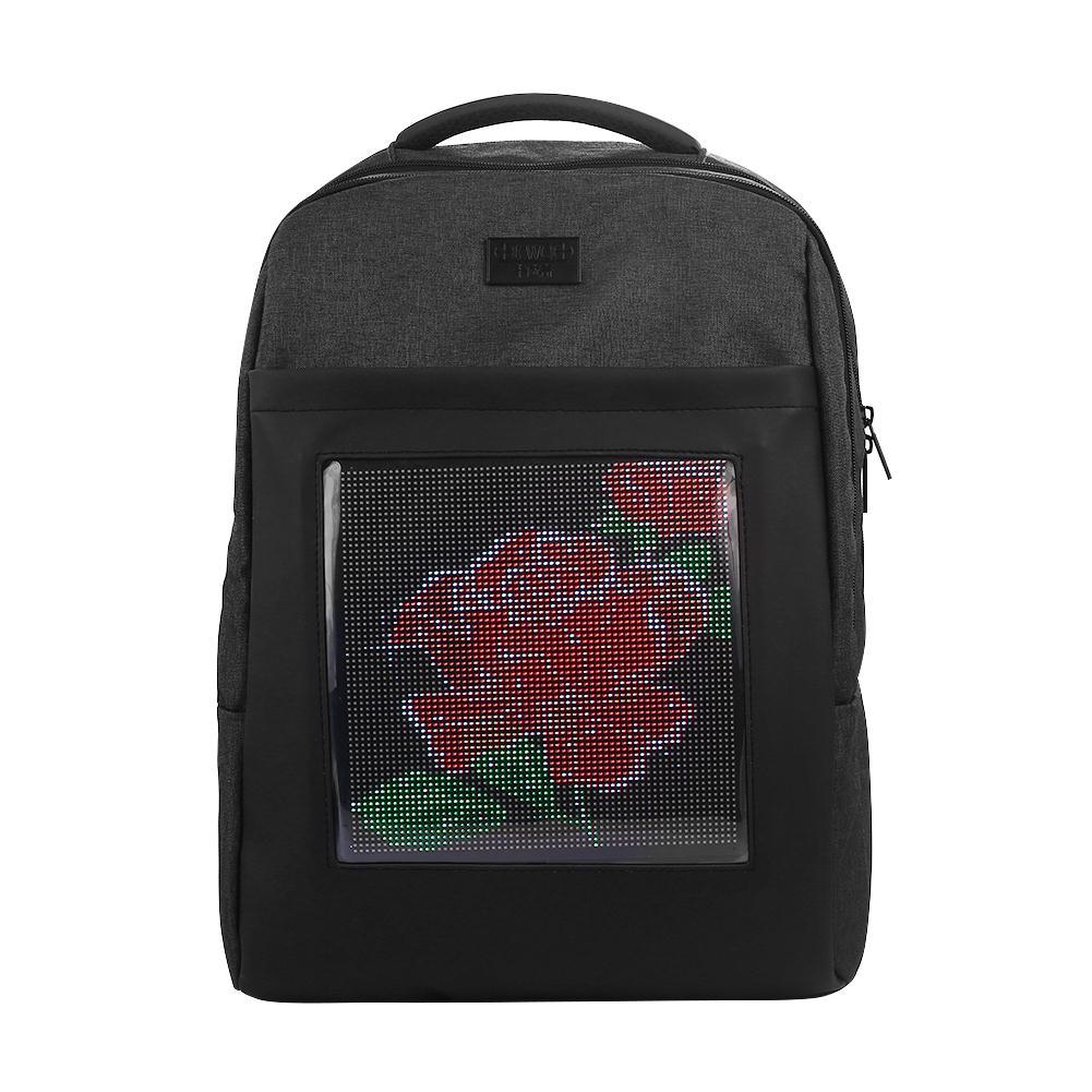 SO светодио дный я светодиодный экран динамический рюкзак на заказ изображение холст материал Мода Экспресс рюкзак «сделай сам» на заказ вс