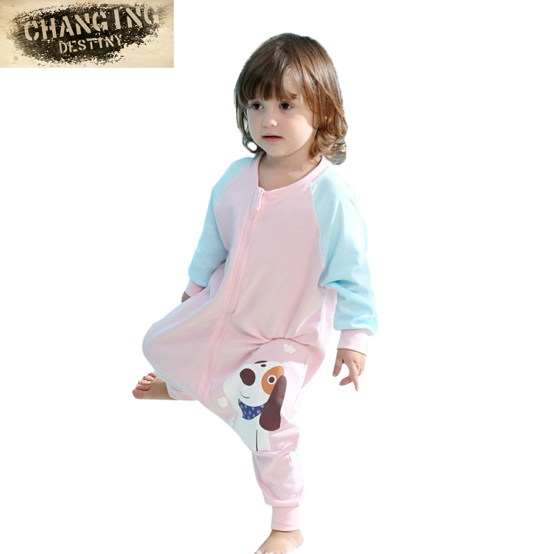 M-XL3 months-3 Years Old Children s Sleeping Bags Pure Cotton Cent Leg Thin e633b1df9