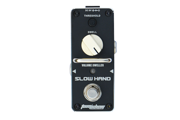 AROMA ASH-3 SLOW HAND Volume swell Guitarra Effect Pedal Like a guitarist control the volume knob ture bypass head freeshipping aroma ac stage acoustic guitar simulator effect pedal aas 3 high sensitive durable top knob volume knob true bypass metal shell