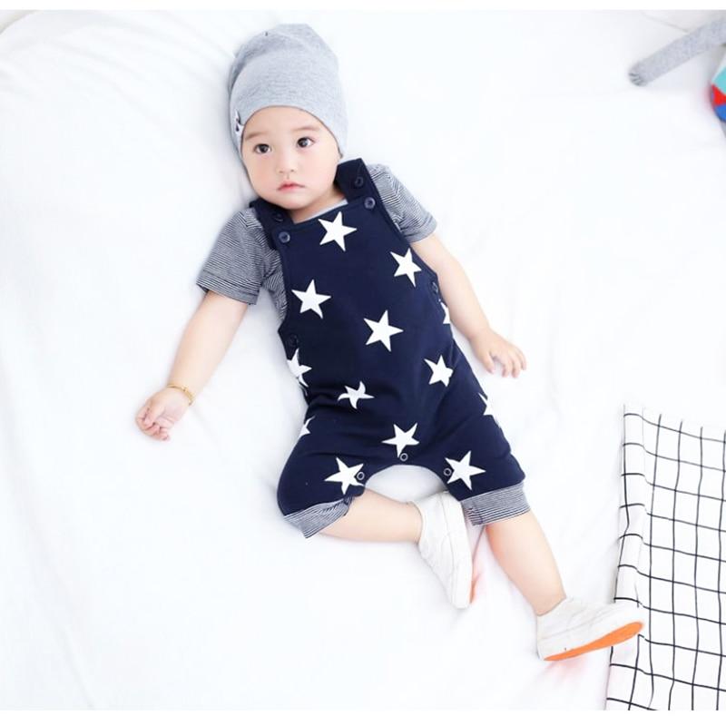 2018 Topkwaliteit baby rompertjes Star Printed Jumpsuit kinderen - Babykleding - Foto 4