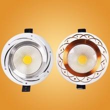 Светодиодный вниз светильник утопленный потолочный светильник светодиодный COB Точечный светильник 110V 220v 5W 7W 9W 12W светодиоидная лампа с регулируемой яркостью Спальня Крытый светодиодный вниз светильник лампочка