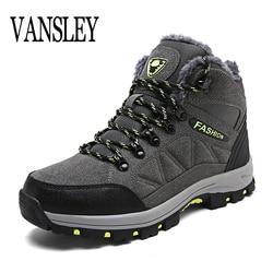 Designer Winter Fur Snow Men Boots Autumn Non-slip Rubber Sole Men Black  Ankle Boots 9c9d3bcc6d9e