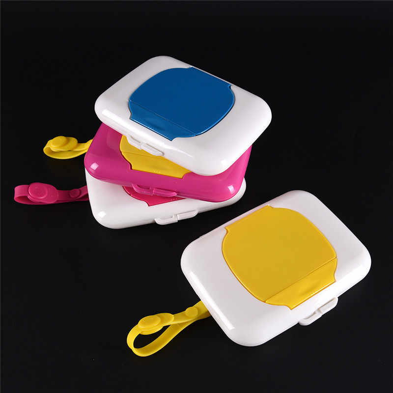 Plastic Baby Travel Storage Holder Tissue Boxes Wipe Case Child Wet Wipes Box Changing Dispenser