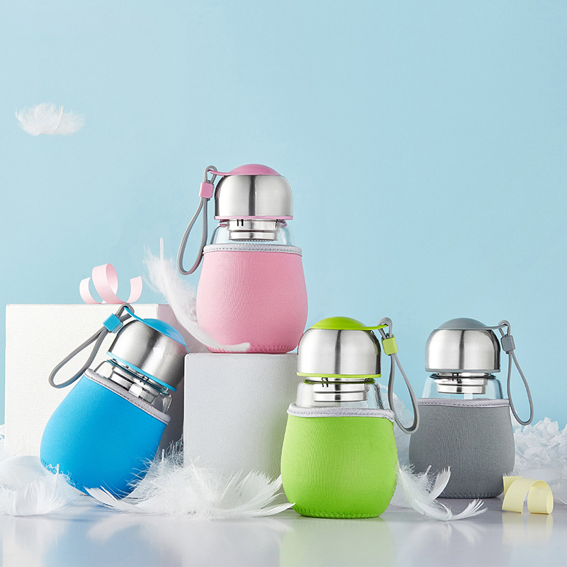 Creative Travel Outdoor Water Bottles Portable Dog Cat: Creative Glass Bottle Mini Kids Water Bottle With