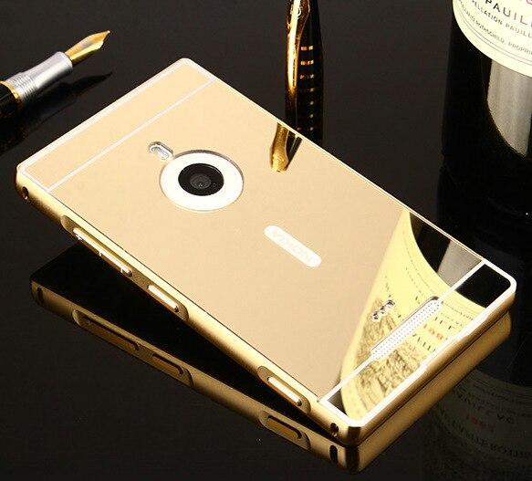 Hot espejo contraportada para microsoft nokia lumia 925 case cajas del teléfono