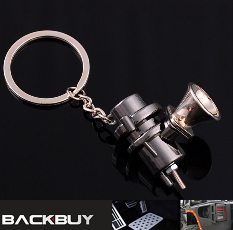 METAL MINI TURBO TURBINE CHARGER BLOW OFF VALVE KEYCHAIN KEY CHAIN RING KEYFOB KEYRING FOR CAR TRUCK SUV BOV STYLE KEYCHAIN RING