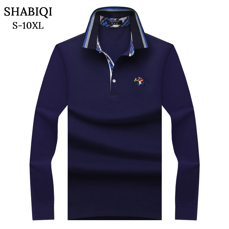 SHABIQI Plus Size S-10XL Brand New Men's   Polo   Shirt Men Cotton Long Sleeve shirt Brands Casual Tops Mens Shirts   Polo   shirts