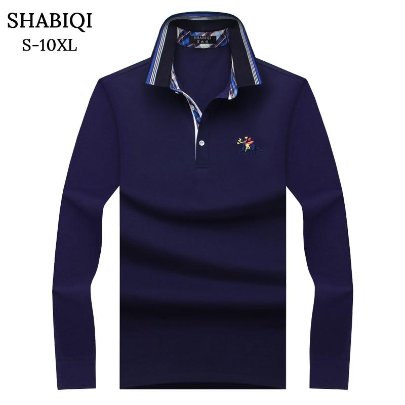 SHABIQI Plus Size S-10XL Brand New Men's   Polo   Shirt Men Cotton Long Sleeve shirt Brands Casual Tops Mens Shirts   Polo   shirts