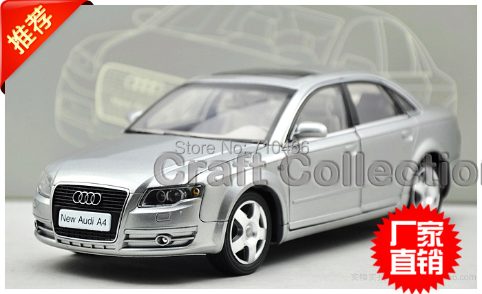 ФОТО Silver Car Model New Audi A4L A4 2006 1:18 Classic Luxury Vehicle Out Of Print