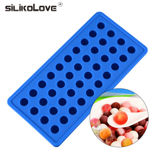 SILIKOLOVE Silicone 40 Cavity Round Ball Mold Decorating Tools For Ice Chocolate Silicone Moulds For Cake Decorating Pastry Tool