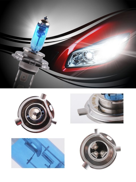 2 pièces H7 100W 12V Super lumineux blanc antibrouillard ampoule halogène haute puissance voiture phares lampe voiture lumière Source parking 1