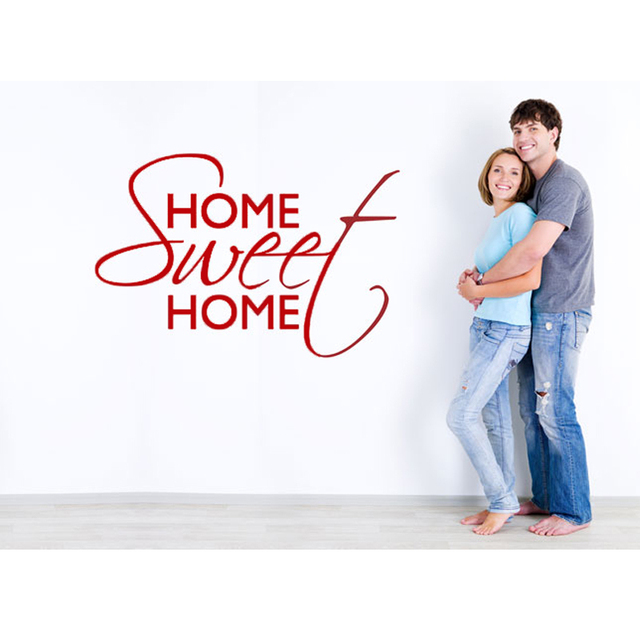 ZOOYOO Sweet Home Wall Stickers Home Decorations  Marriage Room Living Bedroom DIY Decals Mural Arts Printing Poster Paper