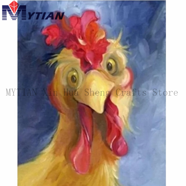 FLORAL ROOSTER MOSAIC DIAMOND PAINTING PAINT BY NUMBERS KIT 5D CROSS STITCH