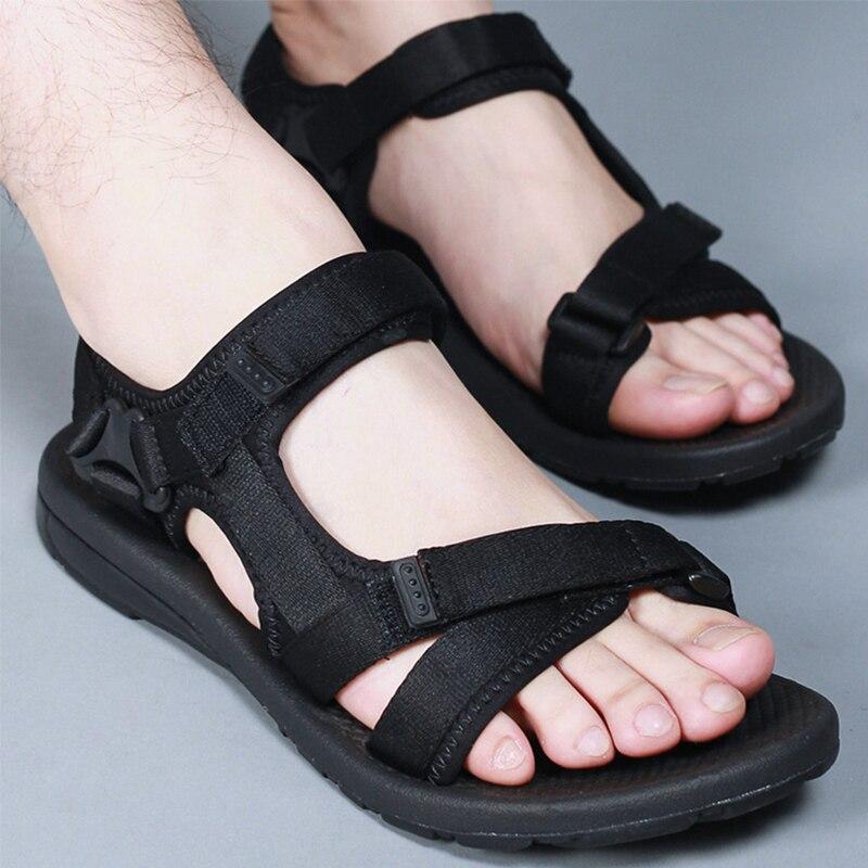 2018 пляжные спортивная обувь Для мужчин дышащие очень легкие сандалии для прогулок удобные нескользящие летние хорошее качество обувь на пл... ...