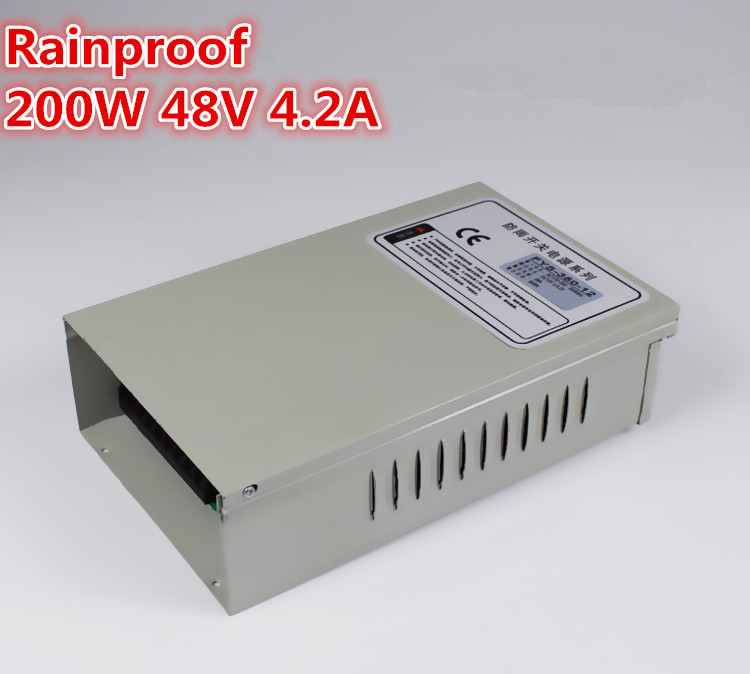 200W 48V 4.2A Rainproof outdoor Single Output Switching power supply smps AC TO DC for LED