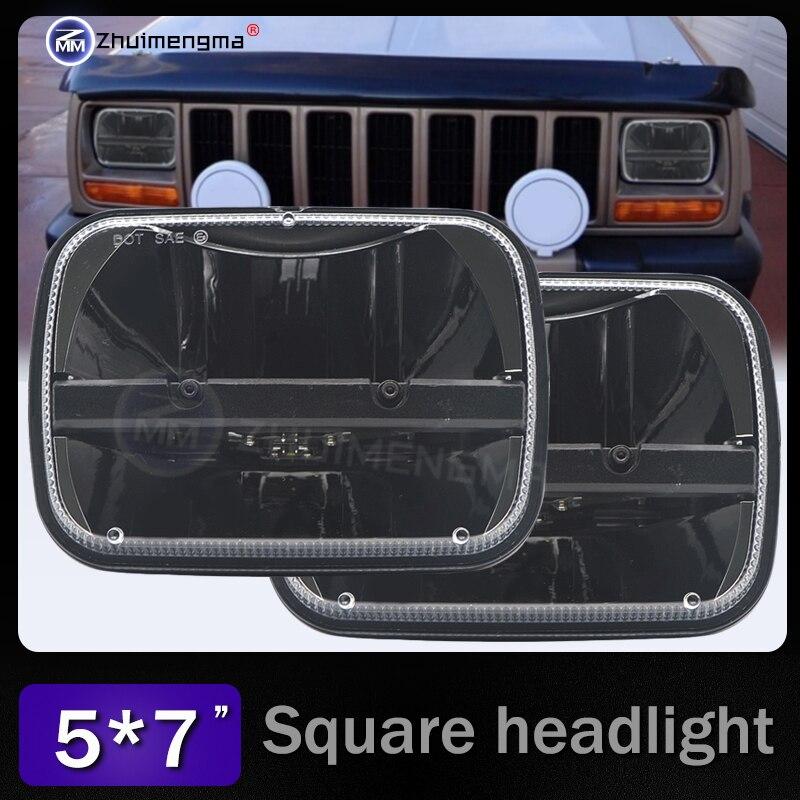 7x 6 5 x 7 inch Black Projector LED Headlights for Jeep Wrangler YJ Cherokee XJ H6054 H5054 H6054LL 69822 6052 6053 marlaa 7x 6 5 x 7 inch black projector led headlights for jeep wrangler yj cherokee xj h6054 h5054 h6054ll 69822 6052 6053