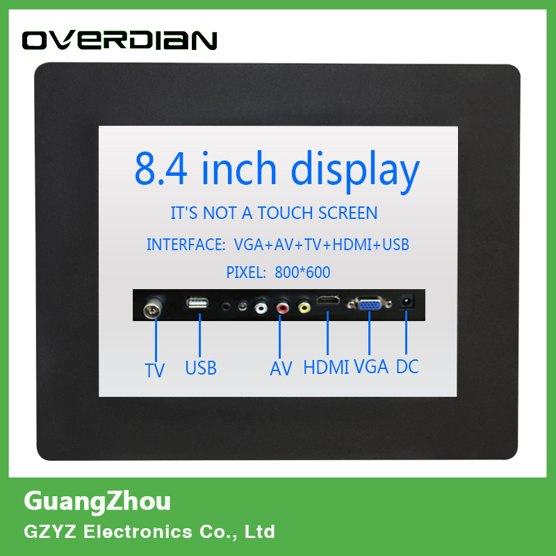 8/8.4 VGA/TV/AV/HDMI/USB Interface Non-Touch Industrial Control LCD Monitor/Display Metal Shell Buckle Card Installation 4:3 11 6 inch metal shell lcd monitor open frame industrial monitor 1366 768 lcd monitor mount with av bnc vga hdmi usb interface