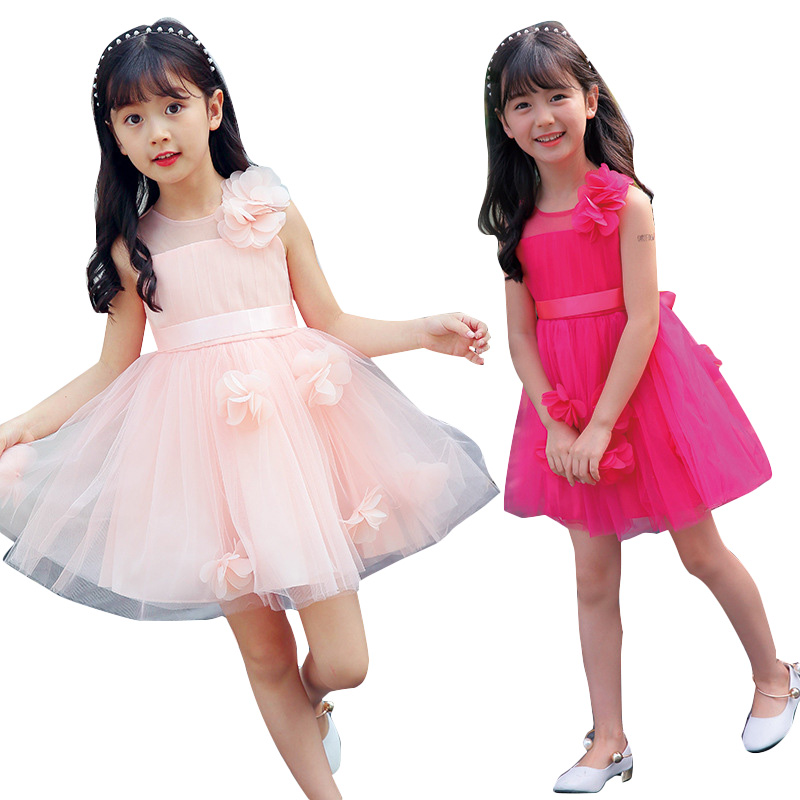 Girls Performance Dresse Mesh Tulle Wedding Dresses For Flower Girls Ball Gowns Elegant Princess Party Dress 2 4 6 8 10 12 Years girls princess party dresses 4 long sleeve striped kids dresses for girls 6 preppy style bottoming dress 8 ball gowns 10 12years
