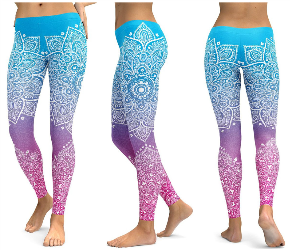 Print Yoga Pants Women Unique Fitness Leggings Workout Sports Running Leggings Sexy Push Up Gym Wear Elastic Slim Pants 18