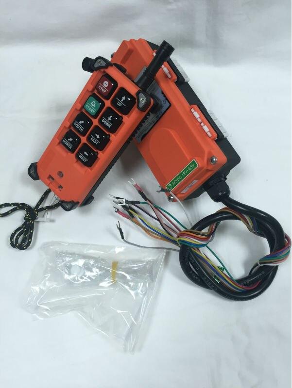 ФОТО RF21-E1B 8 Channels Industrial Remote Controller Hoist Crane(1T+1R) AC/DC 220V-380V
