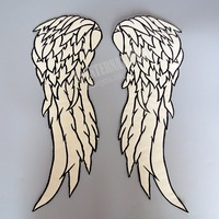 18 inches Angel Wings large Embroidery Patches for Jacket back Motorcycle Biker reflective cloth