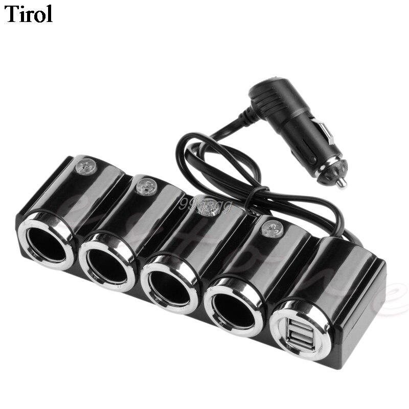 USB Cigarette 4 Way Car Lighter Socket Splitter Charger Power Adapter DC 12V-24V 2018 New