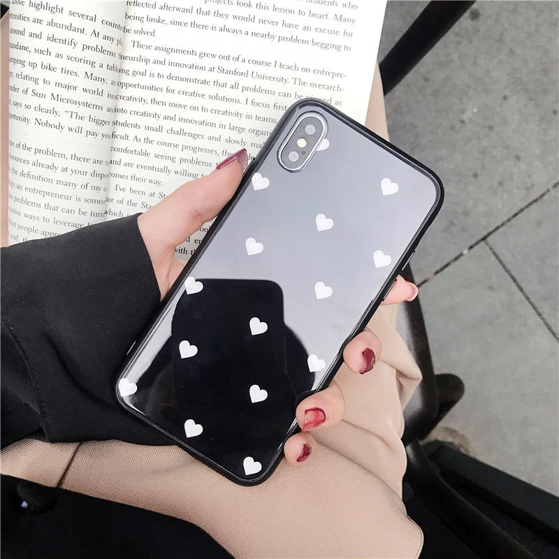 Tempered Glass Love Heart Case For OPPO A57 A39 A59 A73 F5 A3 A5 A3S A7 A79 F9 Pro A7X K1 R15X A83 R9 R9S R11 R11S Plus R17 Pro in Fitted Cases from Cellphones Telecommunications