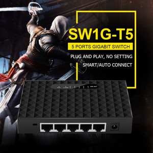Image 5 - 5 Port Desktop Gigabit Switch RJ45 Network Switch 1000Mbps LAN HUB Ethernet Switch Full Half duplex Drop Shipping