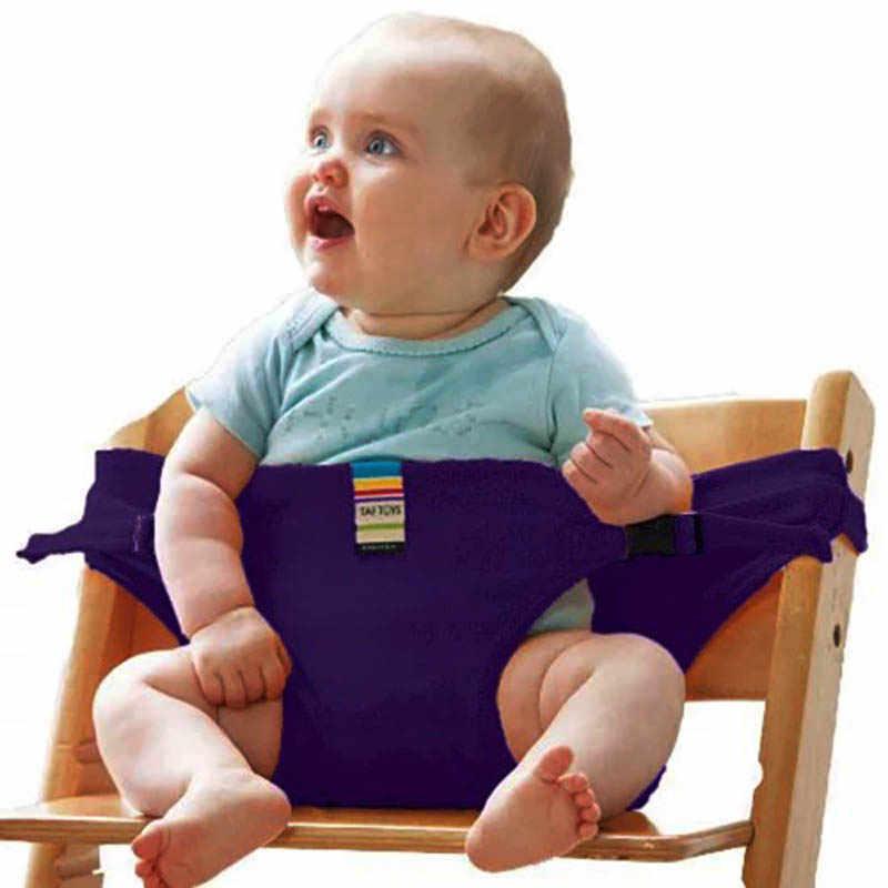 เก้าอี้ทานอาหารเด็กเข็มขัดนิรภัยเด็กแบบพกพาที่นั่ง Washable Travel พับได้ Wrap การให้อาหารสายรัดเก้าอี้สายรัดเด็ก Booster ที่นั่ง