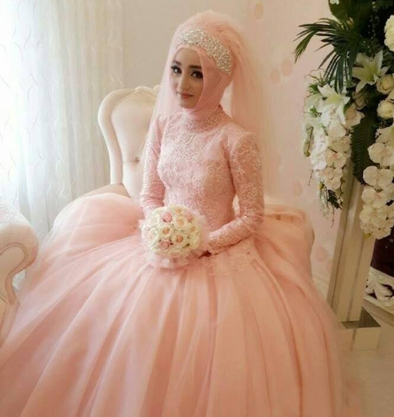 Vestido De Novia 2016 Unique Muslim Long Sleeve Wedding Dresses ...