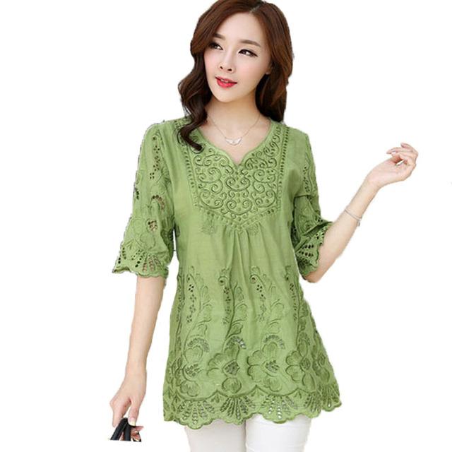 Vintage 2016 nova verão Retro solto túnica Vestido Plus Size mulheres de manga curta Vestido L ~ 3 XXXL verde azul