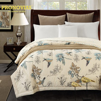 Pronovias 100% cotton chic larks quited bedspreads/throws double single size 1pc for spring summer autumn
