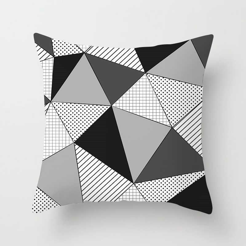 Fuwatacchi Geométrica Capa de Almofada Estilo de Seta Simples Ponto Onda Impresso Fronha Preto e Branco Almofadas Decorativas Para Sofá Car