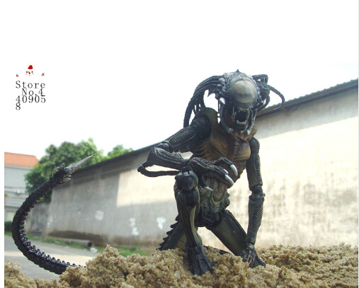 AVP Aliens vs. Predator Series mixed-race Mixed blood Predator Horror Spieces Action Figure Toy 18cm aliens vs predator aliens 3 series 8 weyland yutani commando pvc action figure collection model toy free shipping