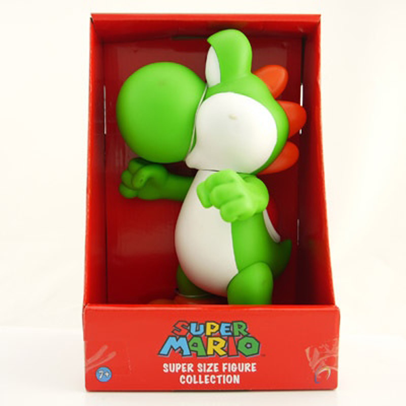 Super Mario Bros 23cm Luigi Yoshi Dimosaur Jouet Action Figure Pvc Vinyl Doll Limited Edition Kids Hot Toys For Children