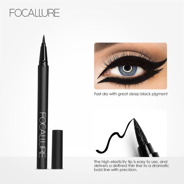 FOCALLURE Liquid Eyeliner waterproof long lasting Black Gel eye liner easy to wear  black eyeliner pen Women Eye Makeup 4