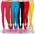 O envio gratuito de alta qualidade mulheres Multicolor calças lápis mulheres Slim Fit Skinny estiramento cintura alta calças Leggings mulher