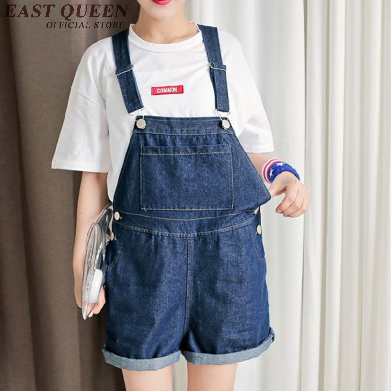 Casual loose denim jumpsuit shorts blue jeans jumpsuit women 2020 plus size jumpsuit women shorts XL-5XL AA2466 YQ