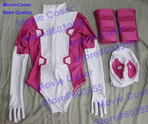 MovieCoser Custom Made GwenPool Costume Comic Lady Deadpool Suit Rosa - Disfraces - foto 3