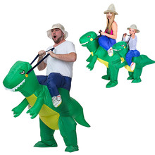 1PC Inflatable Dinosaur Costume Toy Halloween Costumes Funny Animal Cosplay Prop Kids Outdoor Toys Games