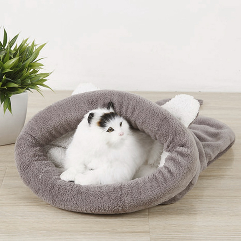 Cute Cat Sleeping Bag Winter Warm Cat Bed Small Dog House For Small Animals Soft Rabbit Nest Cushion Pet Sleep Bag #2