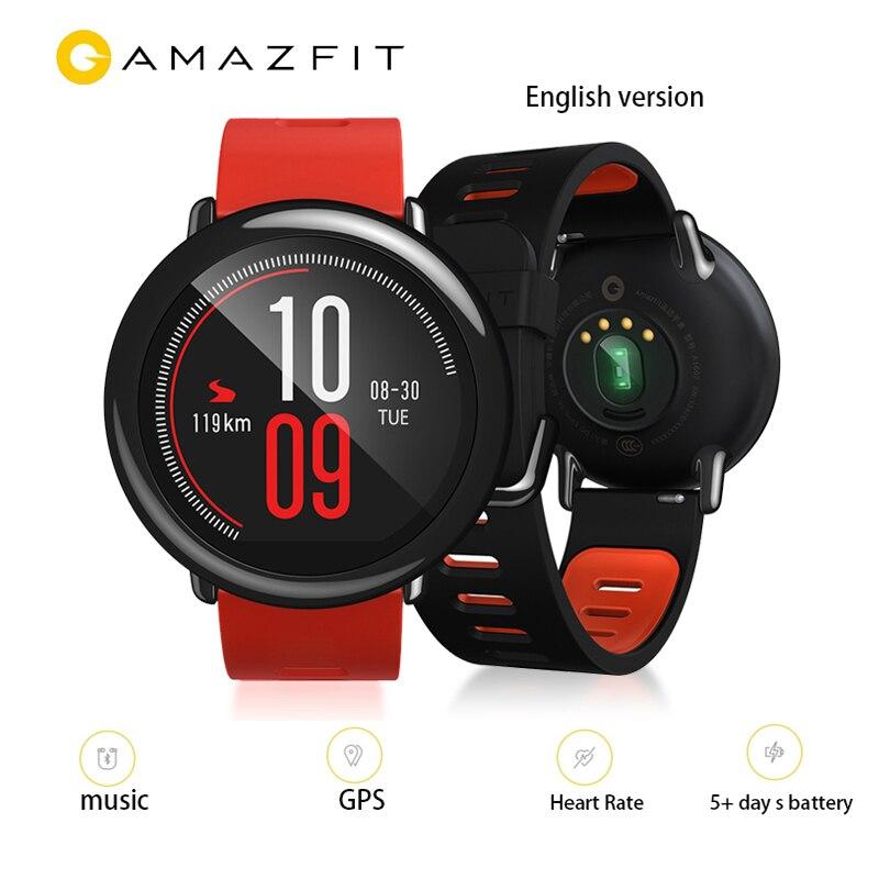 Xiaomi Huami Smartwatch Amazfit темп gps спортивные Смарт часы Для мужчин Носимых устройств часы циркониевой керамики монитор сердечного ритма IP67