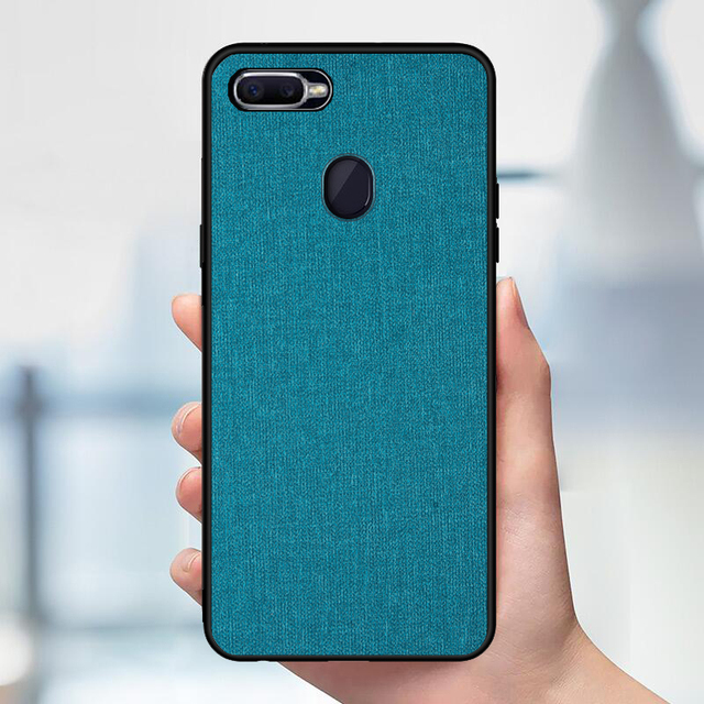 pretty nice f5d98 92572 US $3.6 25% OFF|Luxury Business Canvas Fabric Case For OPPO F9 Pro Case  Soft TPU Edge Matte PC Hard Back Cover For Coque OPPO F9 Case 6.3inch-in ...
