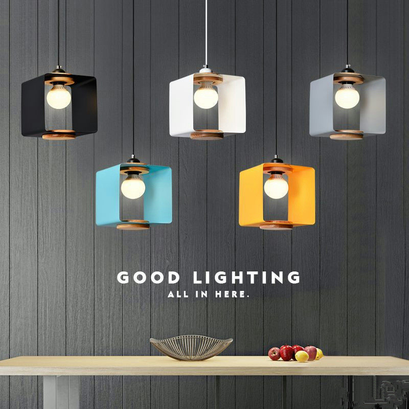 Simple Art Single Head Restaurant Chandelier Coffee Shop Lamp Milk Tea Shop Lamp Bar Lamp Nordic Solid Wood Lamp Free Shipping zx modern round acryl pendant lamp simple restaurant led chip droplight single head study bar shop office lamp free shipping