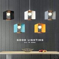 Simple Art Single Head Restaurant Chandelier Coffee Shop Lamp Milk Tea Shop Lamp Bar Lamp Nordic Solid Wood Lamp Free Shipping