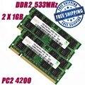 2 ГБ 2X1 ГБ 200Pin DDR2 533 PC2 4200 533 МГц Ноутбук Памяти SODIMM Баранов
