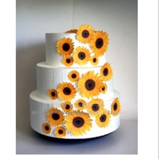 Preis Uberprufen Sonnenblumen Essbaren Kuchen Topper Wafer Reis