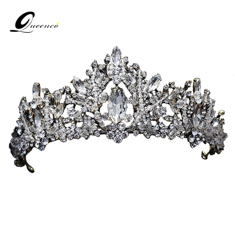 все цены на Retro Tiara Crown Vintage Wedding Hair Accessories Hair Jewelry Alloy Tiaras Beauty Royal Queen Crown Bridal Jewelry Hair