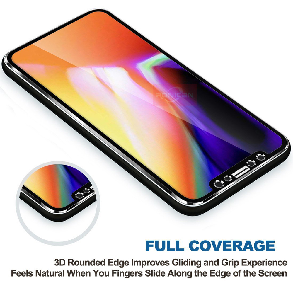 RONICAN Tempered Glass For iphone 6 7 8 Plus 5 5S SE Full Screen Protector 3D Aluminum Alloy For iPhone X 6 7 8 Protective glass (4)